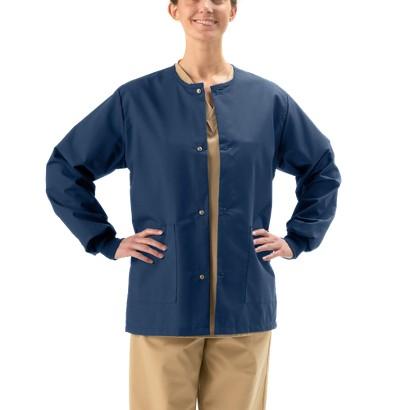 Medline Unisex Snap Front Warm Up Jacket
