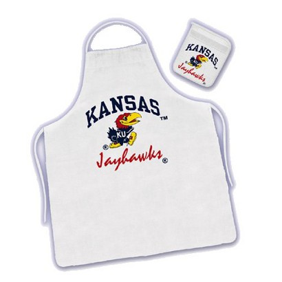 Kansas University Apron & Mitt Set