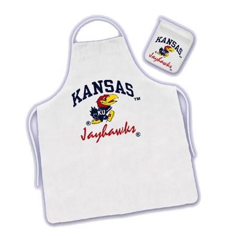 Kansas Jayhawks Apron & Mitt Set