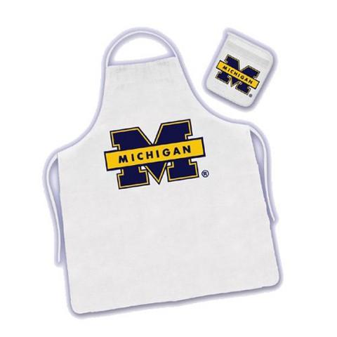 Michigan Wolverines Apron & Mitt Set