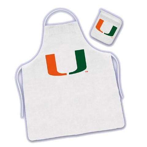 Miami Hurricanes Apron & Mitt Set