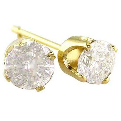 1/3 CT.T.W. Diamond Stud Earrings in 14K Yellow Gold
