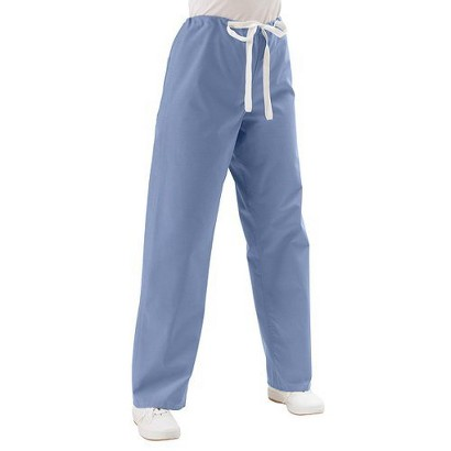 Medline Ciel Blue Unisex Reversible Drawstring Scrub Pants