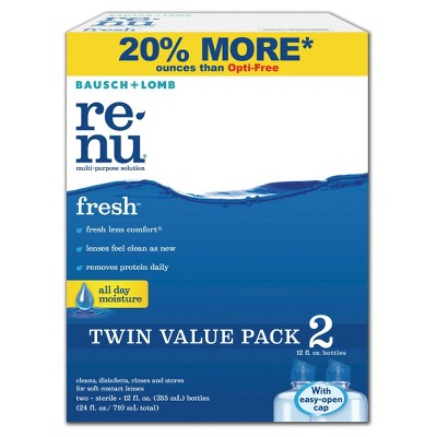 Renu Contact Lens Solution 10% off Renu Contact Lens Solution Twin Packs.