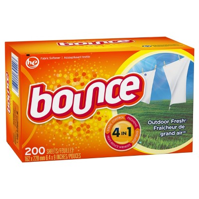 Bounce Dryer Sheets Freshens, softens and controls static cling.