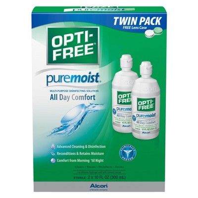 OPTI-FREE Contact Lens Solution Includes OPTI-FREE Puremoist Twin Pack, OPTI-FREE Replenish Twin Pack, and OPTI-FREE Express Twin Pack