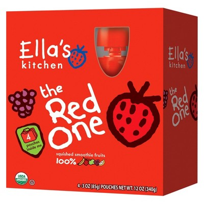 Ella's Kitchen Pouches Our yummy USDA certified organic baby products are handy for moms & dads, and GREAT for litte ones.  Unlike our competitors we don't add water, giving you more of the good stuff!