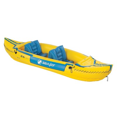 Stearns 2000003414 24 x 16 inch Sevylor Tahiti Classic Inflatable Kayak - Yellow