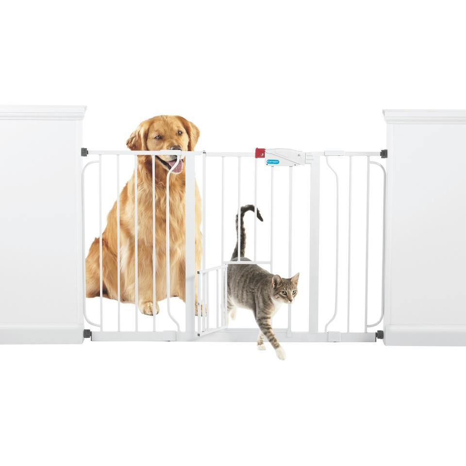 Extra Wide Walk Through Pet Gate   Boots & Barkley™