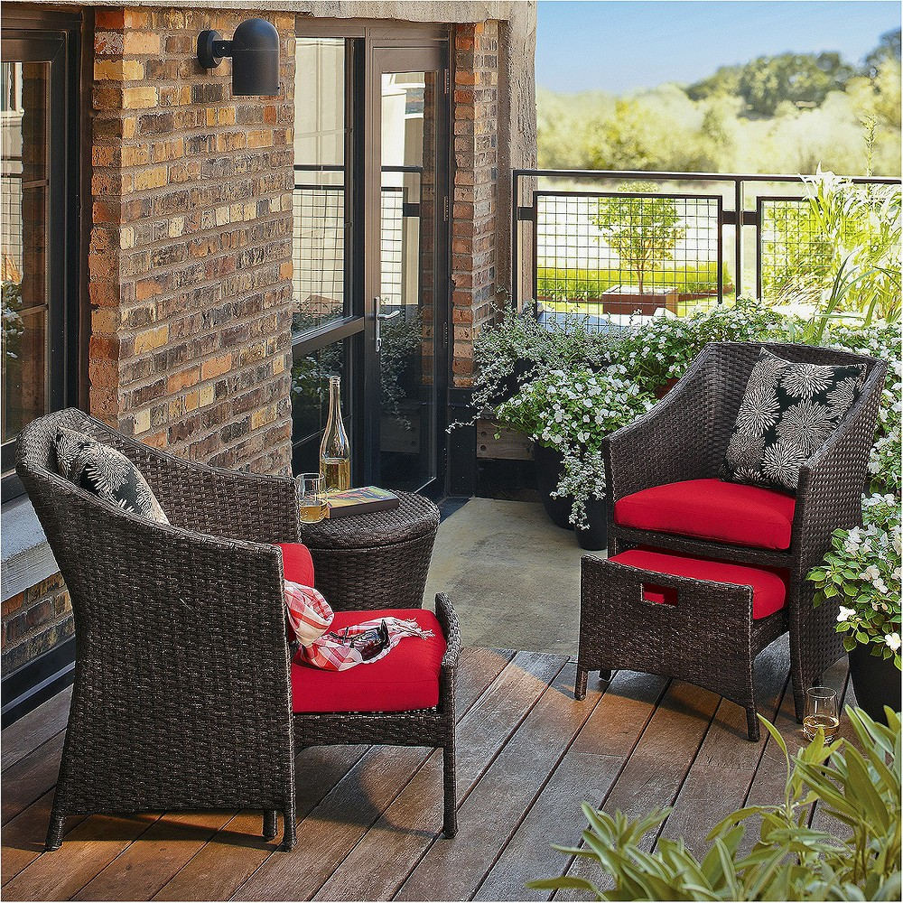 Upc 490090019158 Product Image For Outdoor Patio Furniture Set Threshold 5 Piece Dark Red Wicker
