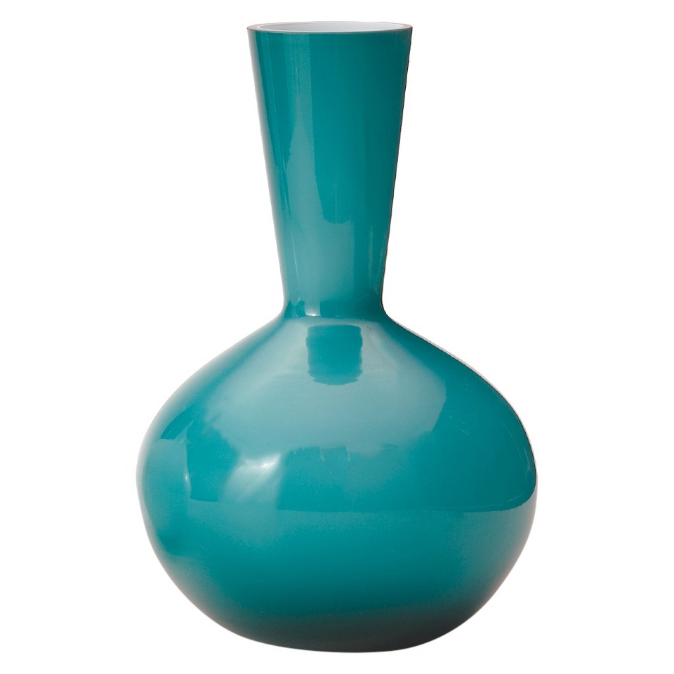 Torre & Tagus Glass Vase   Turquoise (13)