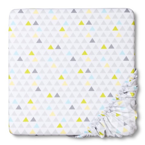 Circo® Woven Fitted Crib Sheet - Geo Patchwork : Target