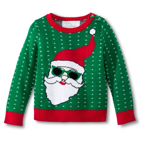 Infant Toddler Boys' Kobe Boy Cool Santa Ugly Ch... : Target