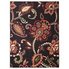 "Maples Floral Accent Rug - Brown (20""x34"")"