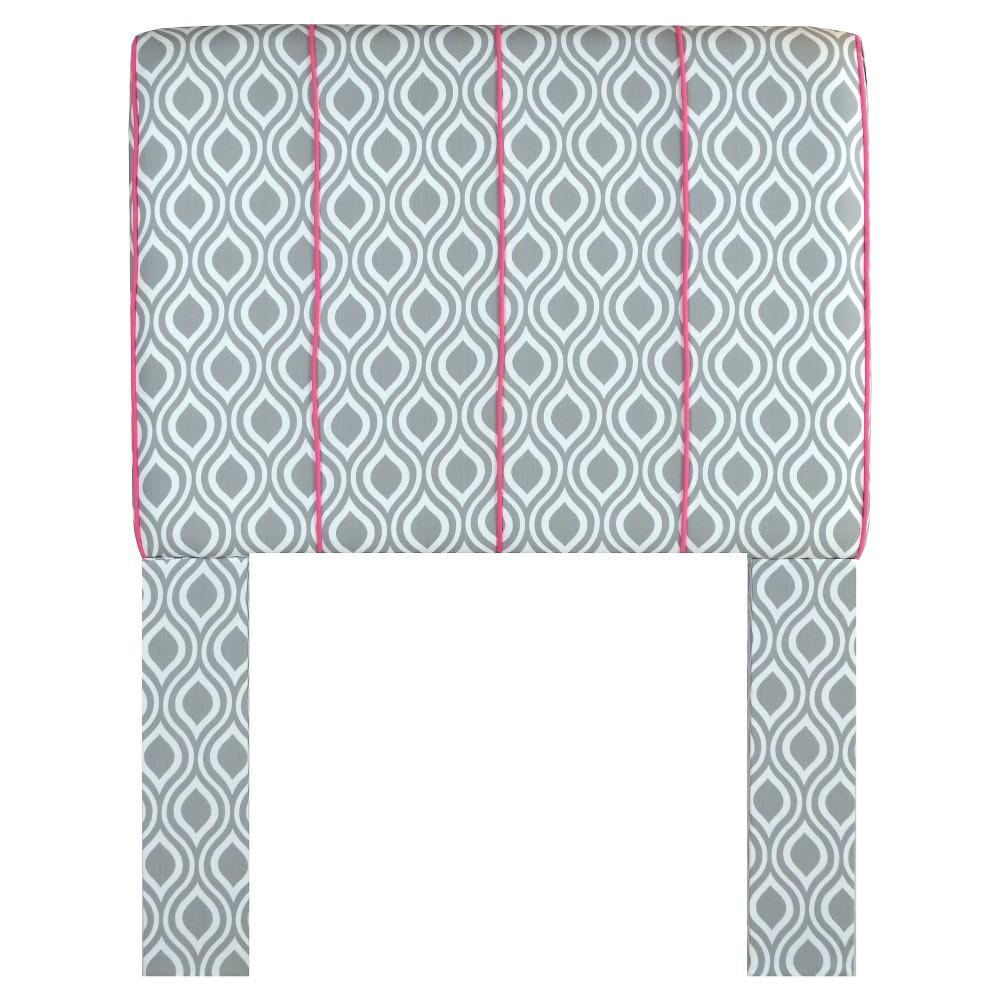 Gray and Pink Headboard