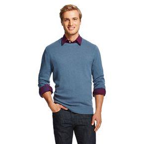 Men's Crew Neck Donegal Sweater Overcast - Merona™