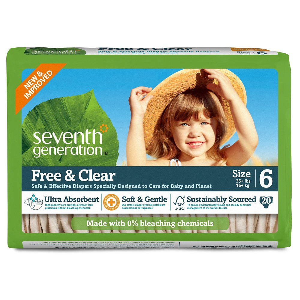 Diapers: Seventh Generation Free & Clear