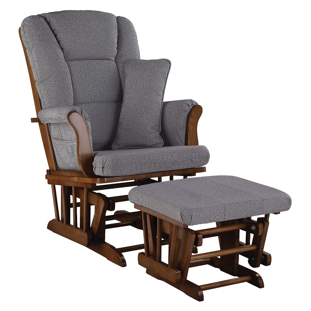 stork craft tuscany glider and ottoman set stork craft tuscany dove brown 3015