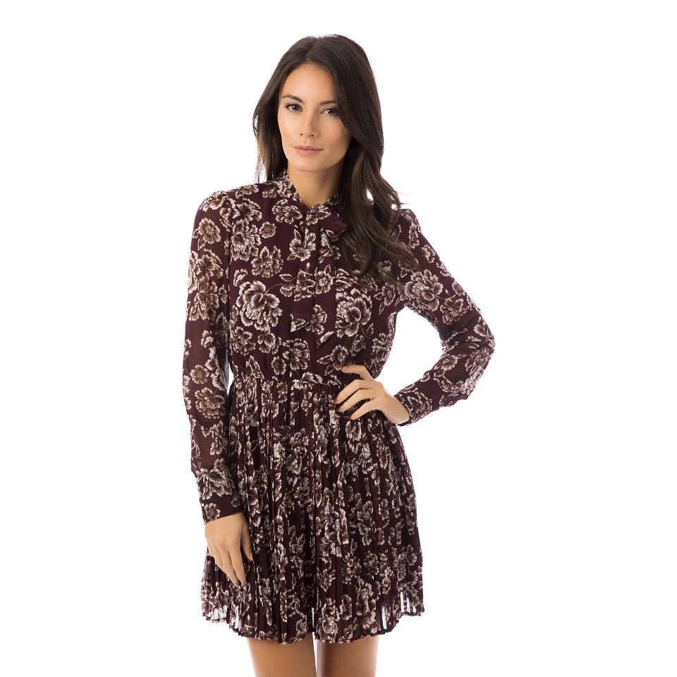 WomensPrinted Pleated Skirt Dress   Fashion Union
