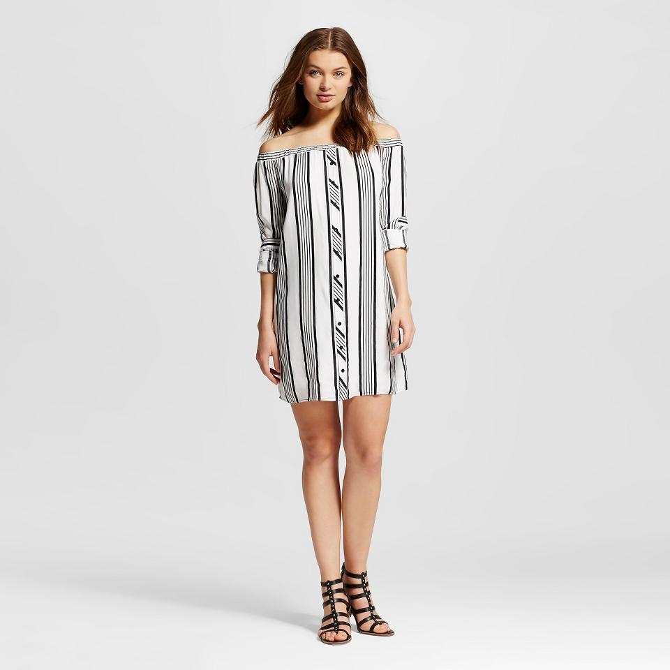 Womens Off the Shoulder Dress Striped   Xhilaration™ (Juniors