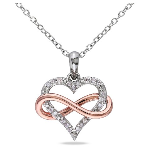 Diamond Heart Pendant Necklace...