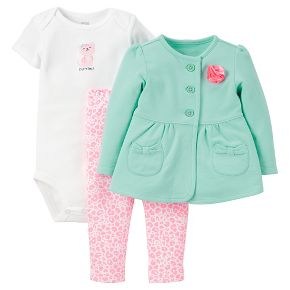 Just One You™Made by Carter's® Newborn Girls' 3 Piece Sets - Mint/Pink
