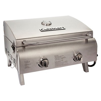 Cuisinart Professional Portable Two Burner Gas Grill Model CGG-306 - Silver