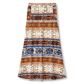 Say What? Girls' Aztec Maxi Skirt - Blue